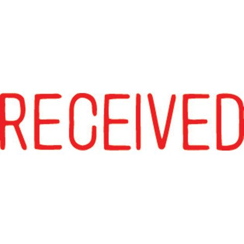 1116 RECEIVED RED XSTAMPER-cqs9 - 4974052915321
