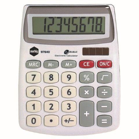 8 DIGIT MARBIG DESKTOP CALCULATOR - COMPACT - 9312311976402