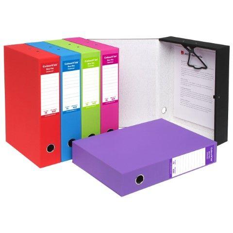 LIME COLOURHIDE FOOLSCAP BOX FILE-CQS9 - 9312311178394