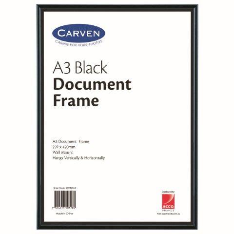 CARVEN DOCUMENT FRAME BLACK A3-cqs9 - 9324213005289