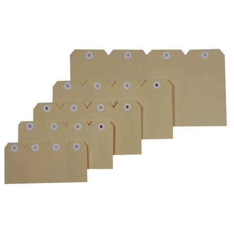 ESSELTE SHIPPING TAGS No.5 60x120mm BUFF-cqs19 - 9310924389879