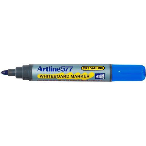 ARTLINE 577 BLUE WHITEBOARD MARKER 2MM BULLET NIB -cqs13 - 4974052806001