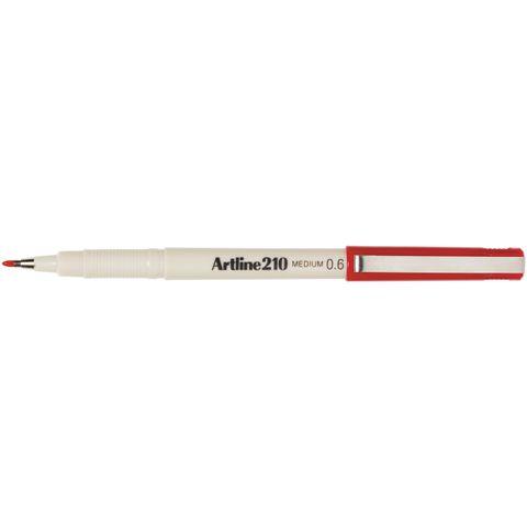ARTLINE 210 RED FINELINER PEN 0.6MM