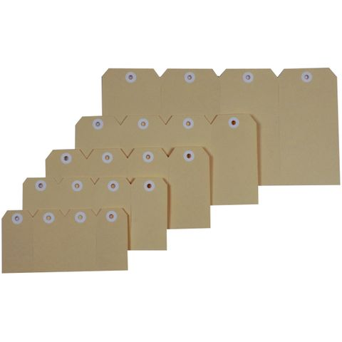 ESSELTE SHIPPING TAGS No.1 35x70mm BUFF-cqs19 - 9310924389831