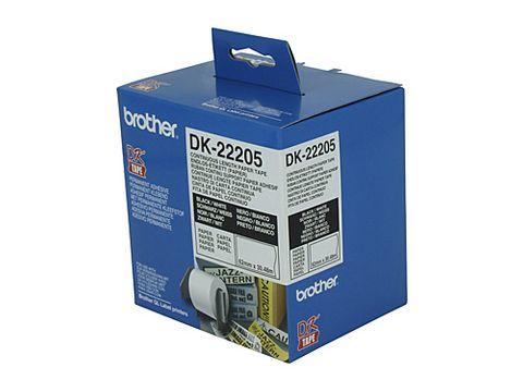 DYN-DK22205 BROTHER DK22205 WHITE ROLL - 62MM X 30.48M - CQS15