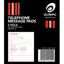 OLYMPIC TELEPHONE MESSAGE PAD PK5