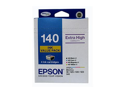 DYN-C13T140692 EPSON T1404 (140) H/Y  INK VALUE PACK (B-C-M-Y) - COL 755 PAGES / BLK 945 PAGES - CQS1
