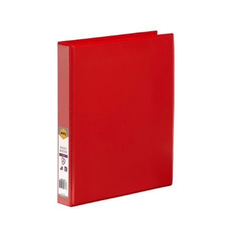 MARBIG CLEARVIEW INSERT BINDER A4 2D 25MM RED - 9312311206387