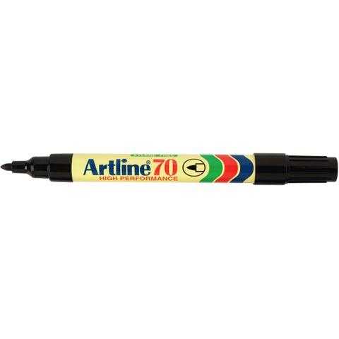 ARTLINE 70 PERMANENT MARKER BULLET TIP BLACK  - 4974052801518