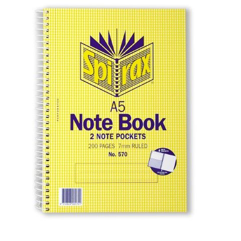 SPIRAX #570 SIDE OPENING NOTE BOOK - 9312828005701