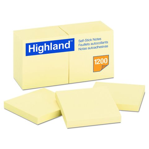 HIGHLAND STICK ON NOTE 76X76 