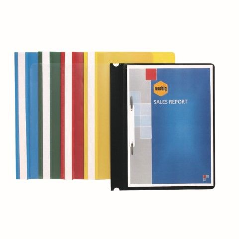 FLAT FILES A4 ECONOMY BLUE MARBIG