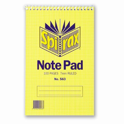 SPIRAX 563 REPORTERS NOTEBOOK - 100 PAGES  - 9312828005633
