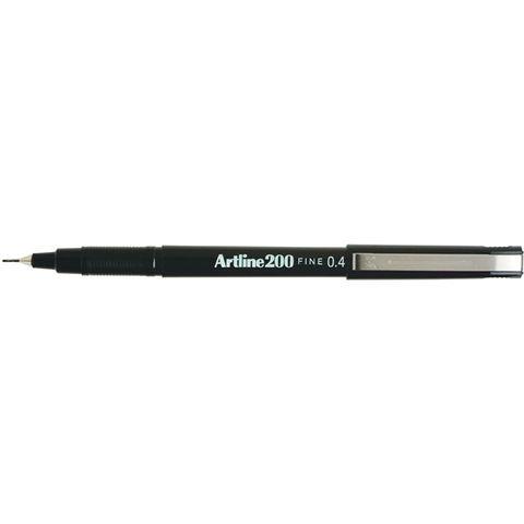 ARTLINE 200 BLACK FINELINE PEN 0.4MM
