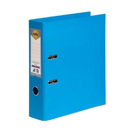 LEVER ARCH FILE PE A4 SKY BLUE MARBIG-CQS15 - 9312311205953