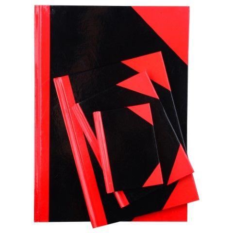 RED/BLACK A4 FEINT 100LF *CS*