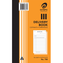 OLYMPIC CARBONLESS BOOK #700 DUPLICATE DELIVERY BOOK 50L 200X125
