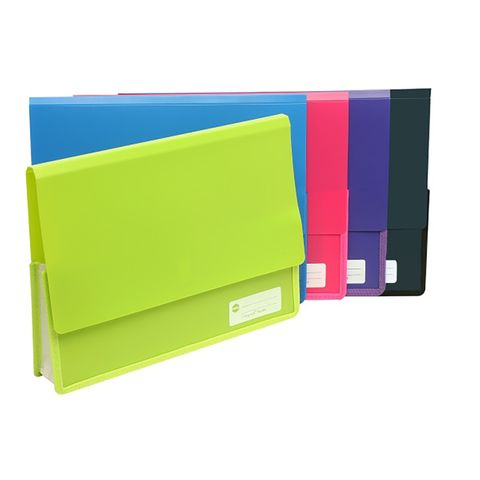DOCUMENT WALLET POLYPICK A4 HEAVY DUTY PINK - VELCRO CLOSURE MARBIG