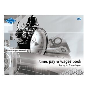 ZIONS WAGES BOOK NO.500 1-6 STAFF