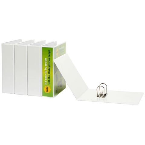 LEVER ARCH FILE A4 INSERT BINDER CLEARVIEW WHITE