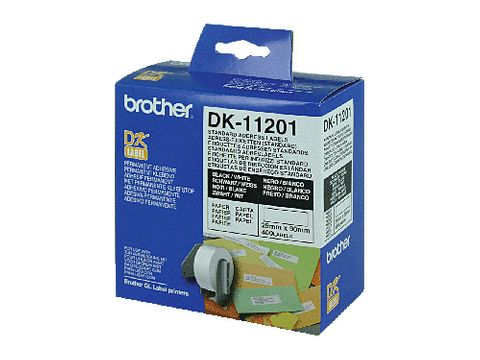 DYN-DK11201 BROTHER DK11201 WHITE LABEL - 29MM X 90MM - 400 PER ROLL - CQS15
