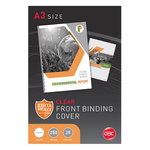 BINDING COVERS A3 CLEAR 250MIC 25PK LANDSCAPE
