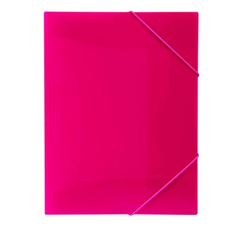 DOCUMENT FILE A4 PINK  PP ELASTIC STRAPS