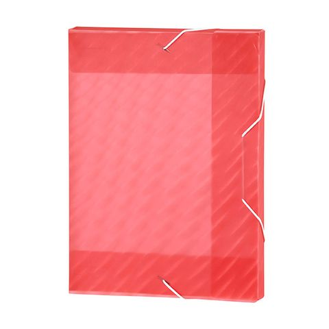 DOCUMENT BOX A4 SHIMMER PINK W/ELASTIC PP