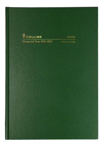 A4 DIARY 24M4 FINANCIAL 2DTP COLLINS DIARY 2021/22