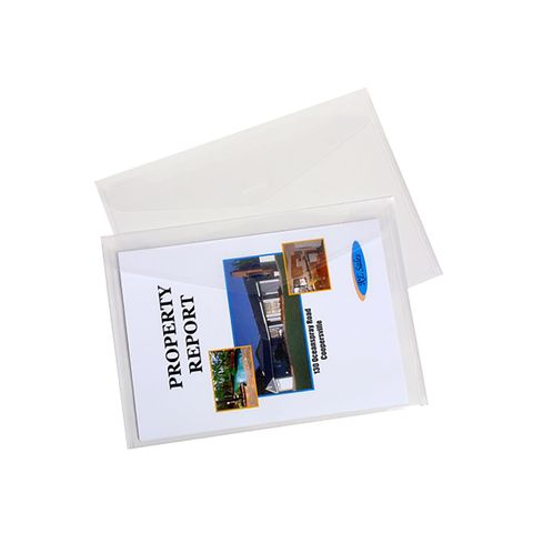 DOCUMENT WALLET A4 CLEAR PK4