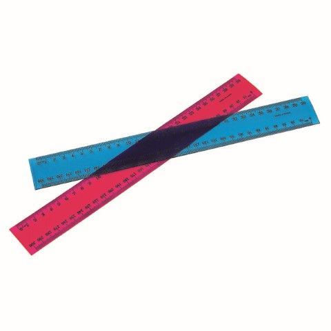 MARBIG RULER FLUORESCENT PLASTIC 30CM 30CM FLUORESCENT PLASTIC-cqs9 - 9312311900575