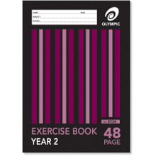 OLYMPIC EXERCISE BOOK A4 48P YR2 EY24
