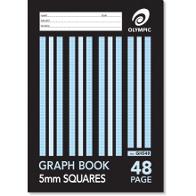 OLYMPIC GRAPH BOOK A4 48P 5mm GH548