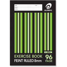 OLYMPIC EXERCISE BOOK A4 96P 8mm E896