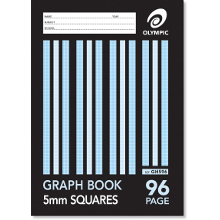 OLYMPIC GRAPH BOOK A4 96P 5mm GH596