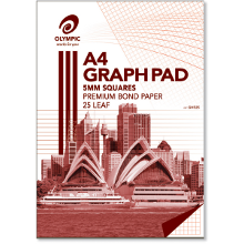 OLYMPIC GRAPH PAD A4 25L 5mm GH525