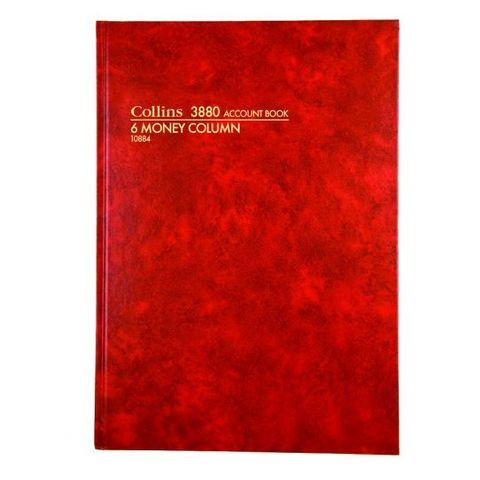 COLLINS 3880 6 MONEY COLUMN A4 ACCOUNT BOOK