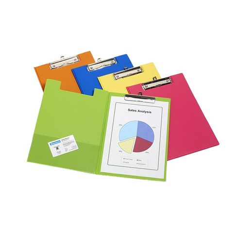 BEAUTONE PVC CLIPFOLDER A4 TROPICAL ASSORTED COLOURS