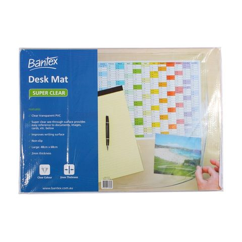 CLEAR DESK MAT LARGE 65X48CM BANTEX 4173