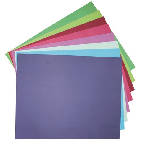 COOL TONES 510X640MM 200GSM COLOURBOARD ASSORTED COLOURS PK50