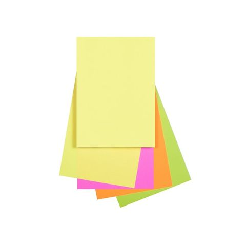 FLUORO ASSORTED A4 80GSM PAPER PK100 QUILL