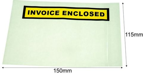 OSMER INVOICE ENCLOSED LABELOPE 150MM X 115MM BX 1000