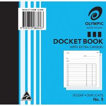 OLYMPIC 5 DOCKET BOOK DUPLICATE 50LF 125X125MM