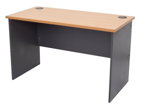 RAPID WORKER DESK 1500MM W X 750MM D X 730MM H BEECH/IRONSTONE