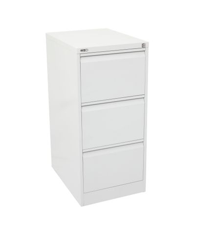 GO HEAVY DUTY 3 DRAWER FILING CABINET CHINA WHITE