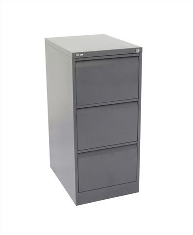 GO HEAVY DUTY 3 DRAWER FILING CABINET - GRAPHITE RIPPLE