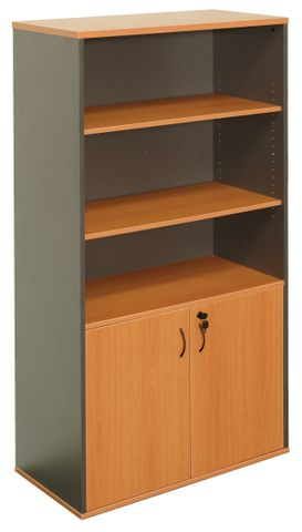 RAPID WORKER HALF DOOR WALL UNIT -  BEECH/IRONSTONE