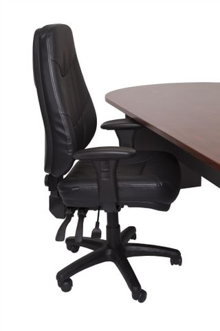 LANDER GENUINE LEATHER EXECUTIVE CHAIR - RATED 150KG & 24/7 USE