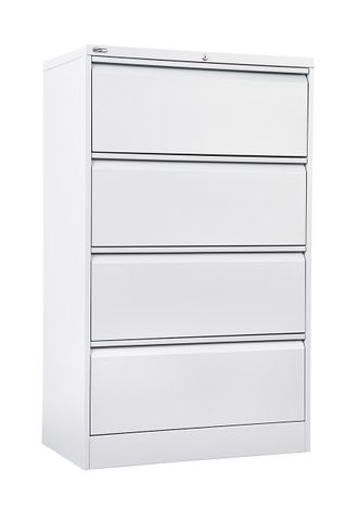 GO HEAVY DUTY 4 DRAWER LATERAL FILING CABINET - WHITE CHINA
