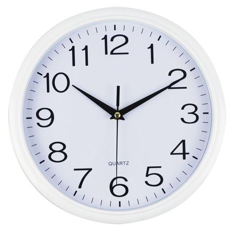 CLOCK 30CM ROUND WHITE I391